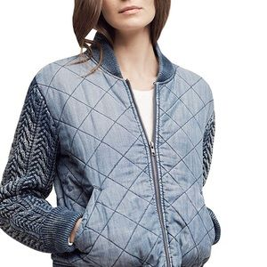 Cloth & Stone quilted dinen jacket